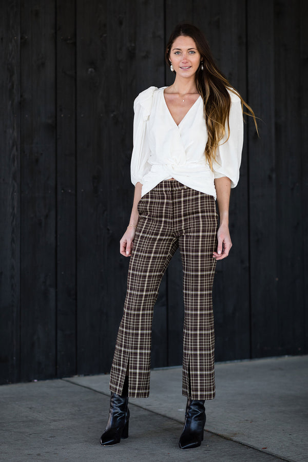 Double Face Crop Bell Pant