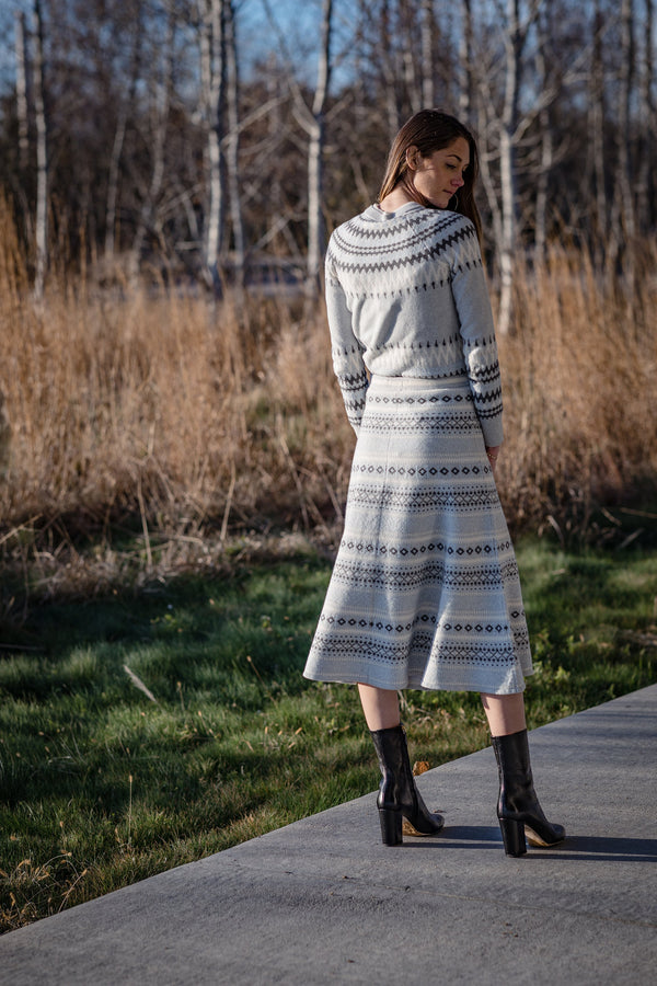 Fairisle Midi Skirt