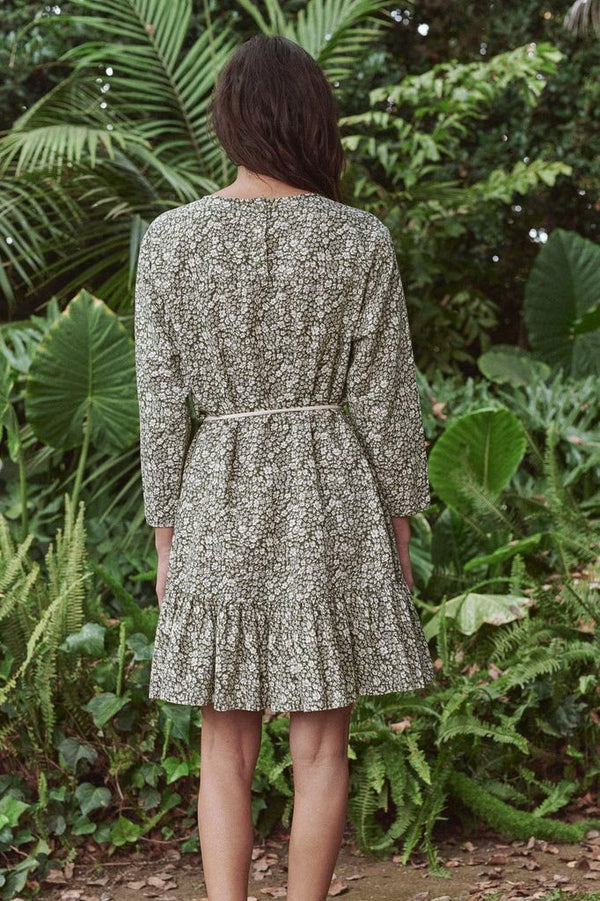 The Charming Dress in Army Gardenia Floral