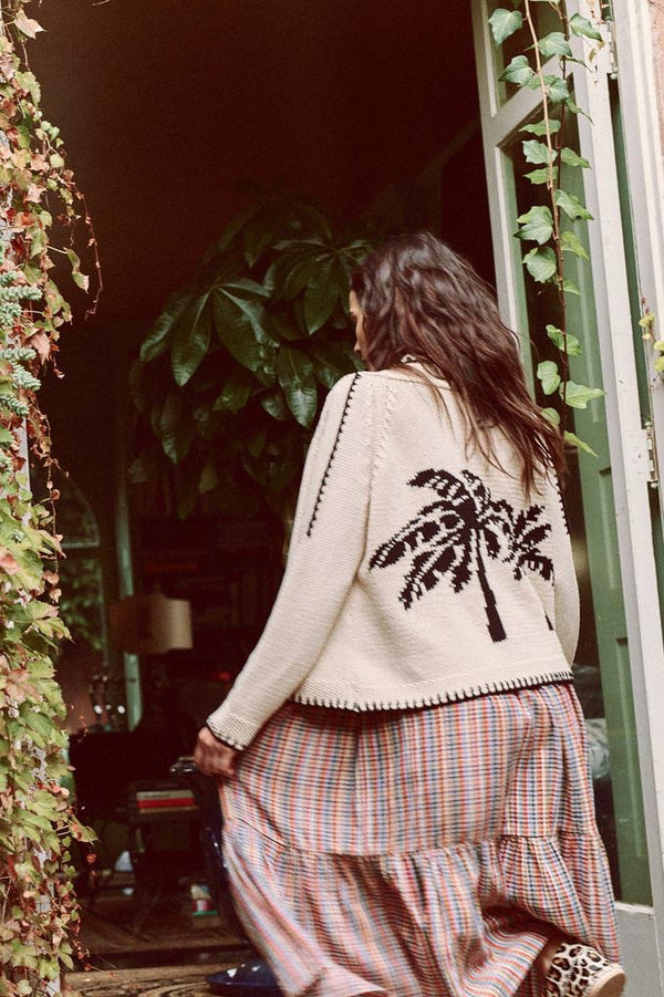 The Palm Lodge Cardigan in Cream