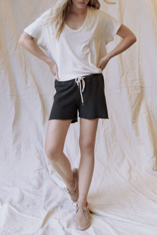 The Sweatshort in Washed Black