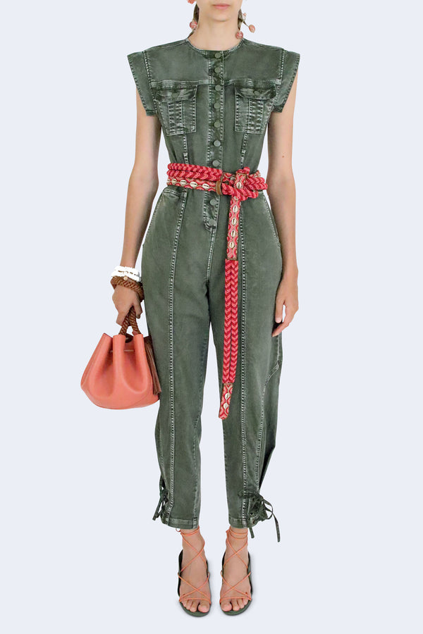 Adair Jumpsuit with Tied Waist