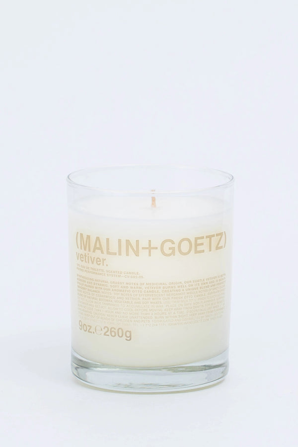 Vetiver Candle in glass on white background