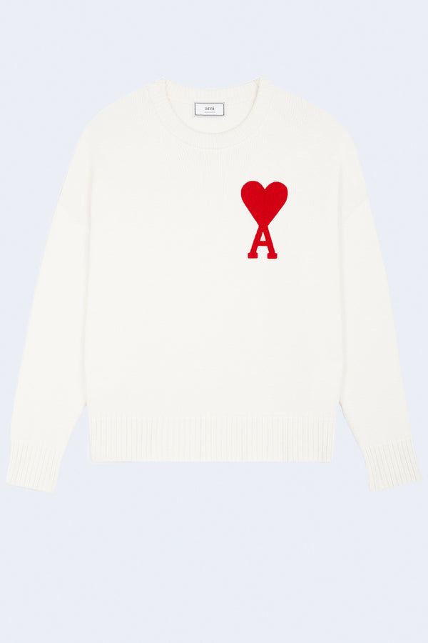 Pull Over Sweater Ami Coeur in White