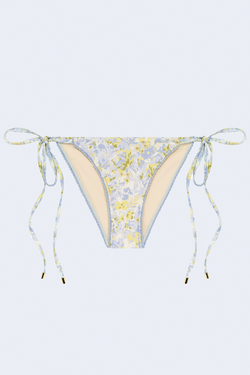 String Bikini Bottom in Forget Me Not