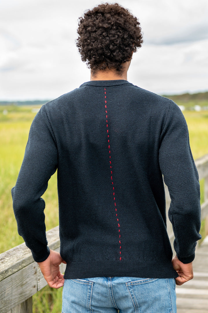 Stamford Merino Wool Sweater in Navy