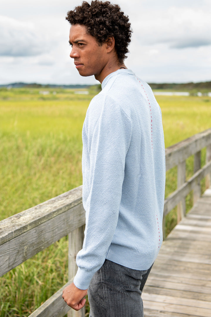 Stamford Merino Wool Sweater in Light Blue