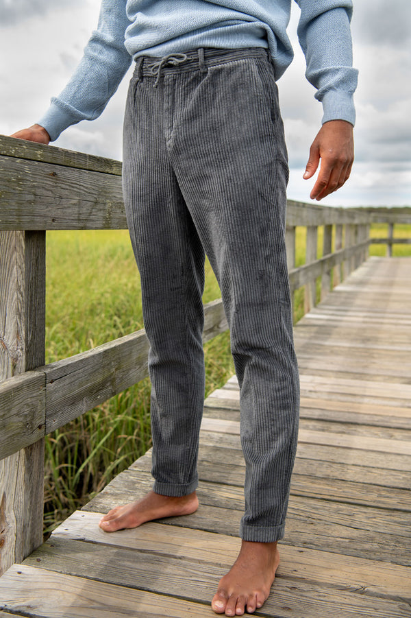 Smart Fancy Chord Joggpant in Charcoal
