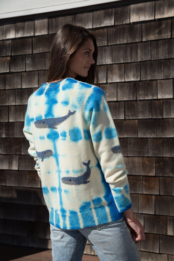 Cashmere Tie-Dye Whale Sweater