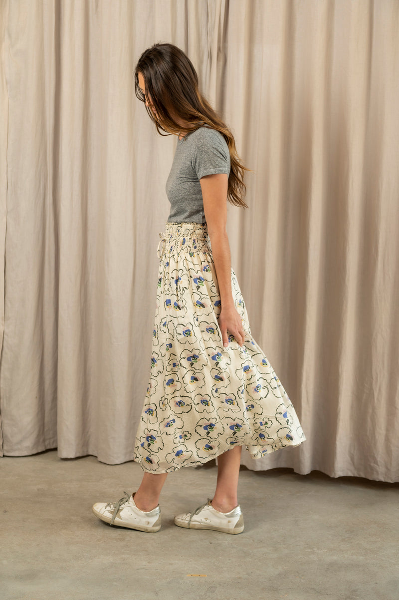 Nueva Wabi Sabi Skirt in Rosie Floral Cream
