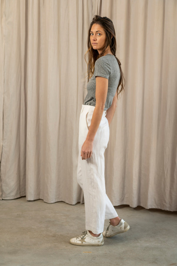 Eldora High Waisted Pants in White