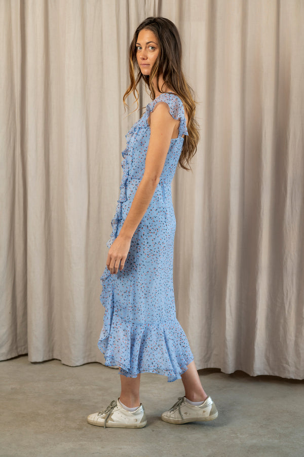 Amal Dress in Blue