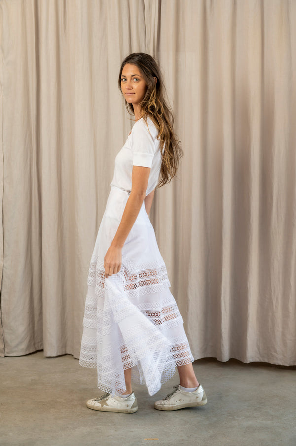 Benna Long Skirt in White