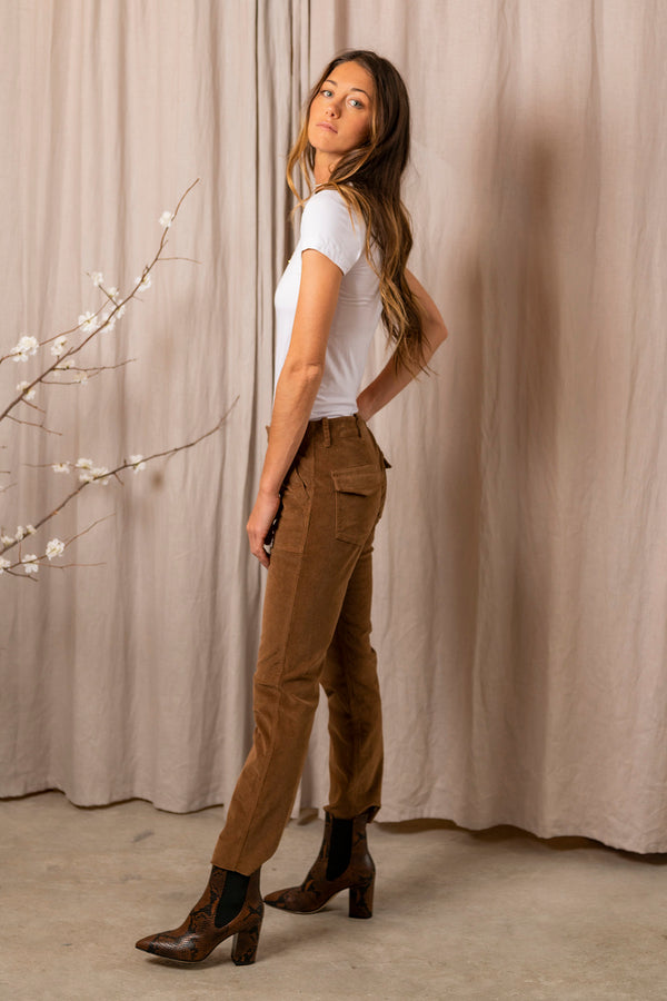 Jenna Pant in Chestnut