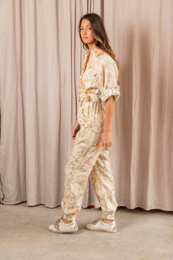 Glassy Boilersuit in Washed Floral