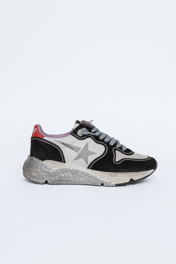 White Red Silver Star Running Sneakers