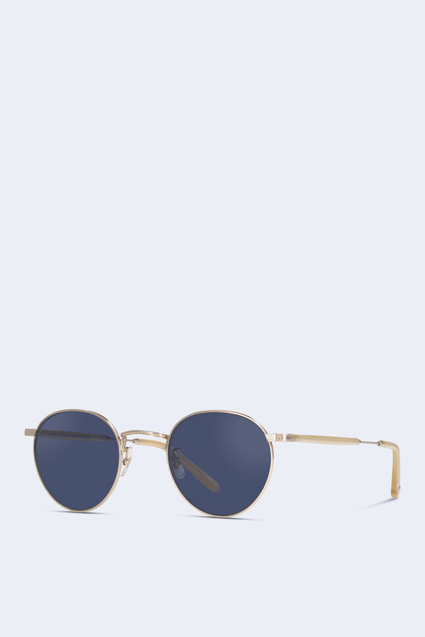 Wilson Sunglasses in Gold Toffee Semi-Flat Navy