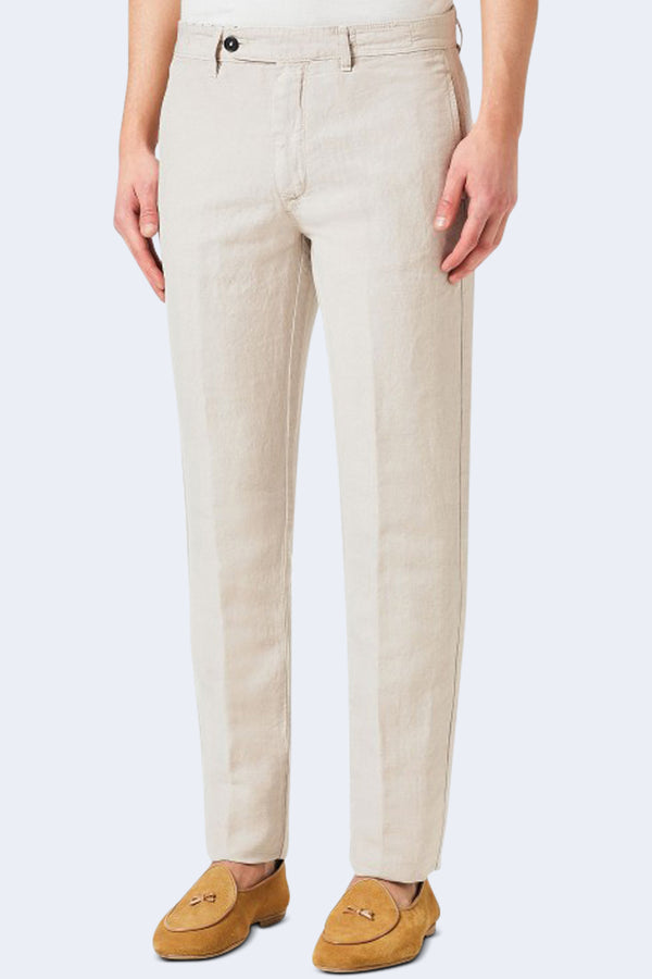 Winch 2 Cotton Linen Pant in Stucco