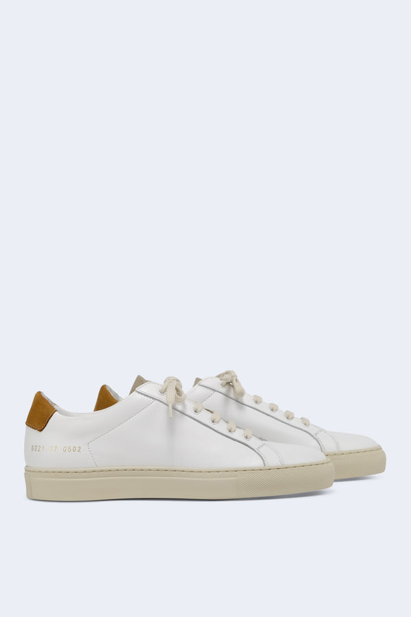Women's Retro Low Special Edition Sneaker in White Tan