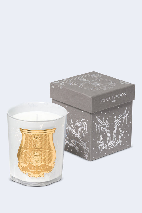 Abd El Kader Candle White Glass