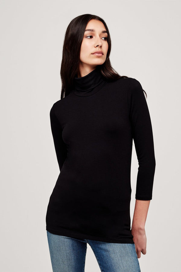 Aja Modal Turtleneck in Black