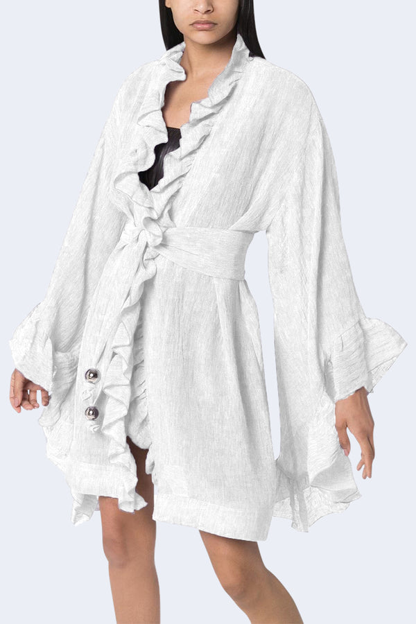 Anita Mini Robe in White