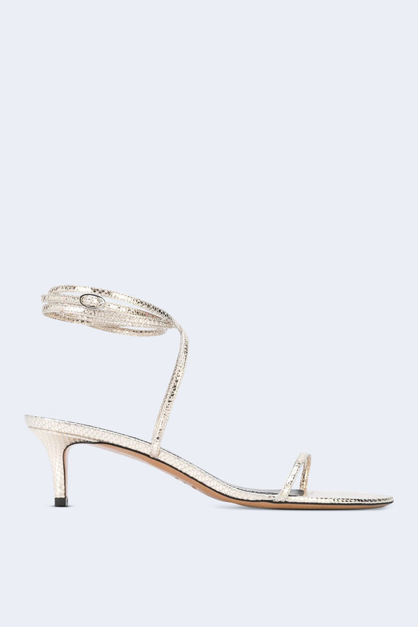 Aridee Metallic Strappy Sandals in Gold