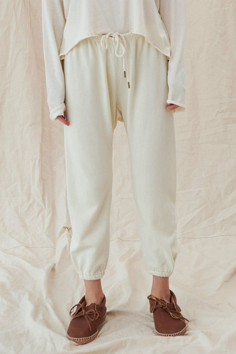 The Stadium Sweatpant in Washed White