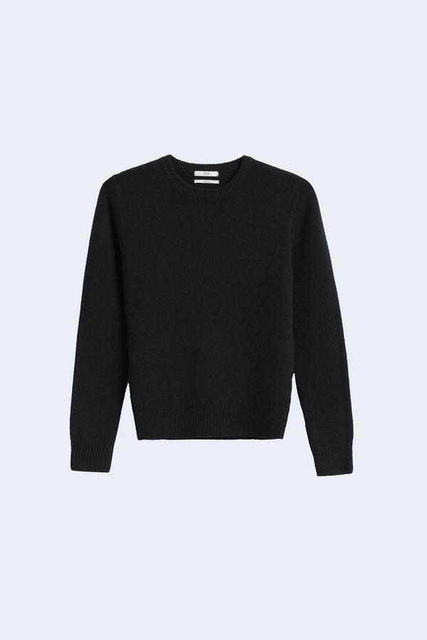 Cashmere Crewneck Sweater in Black