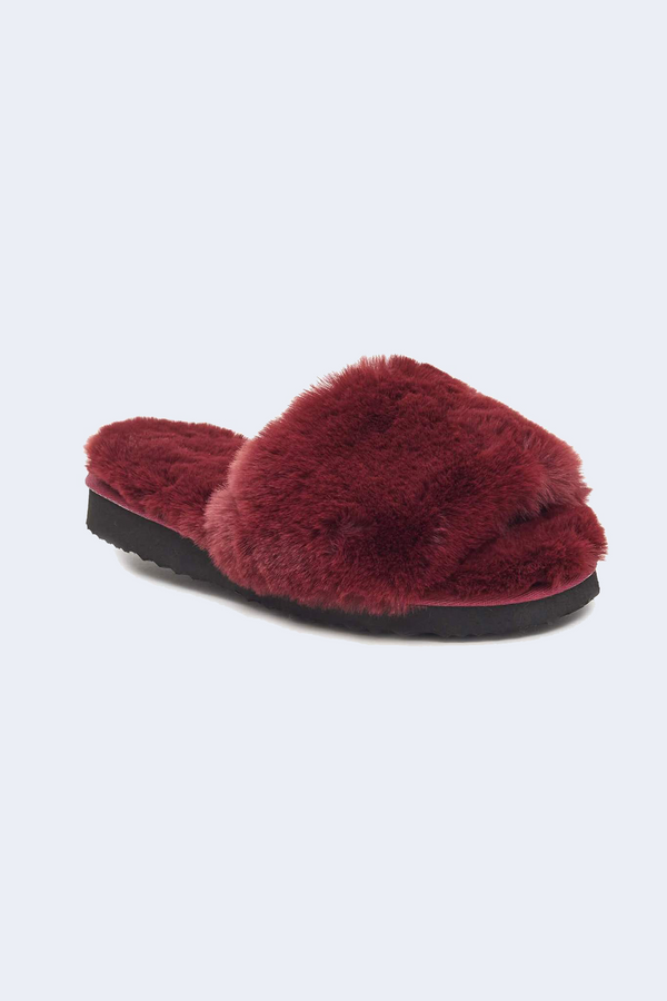 Jasmine Slippers in Burgundy