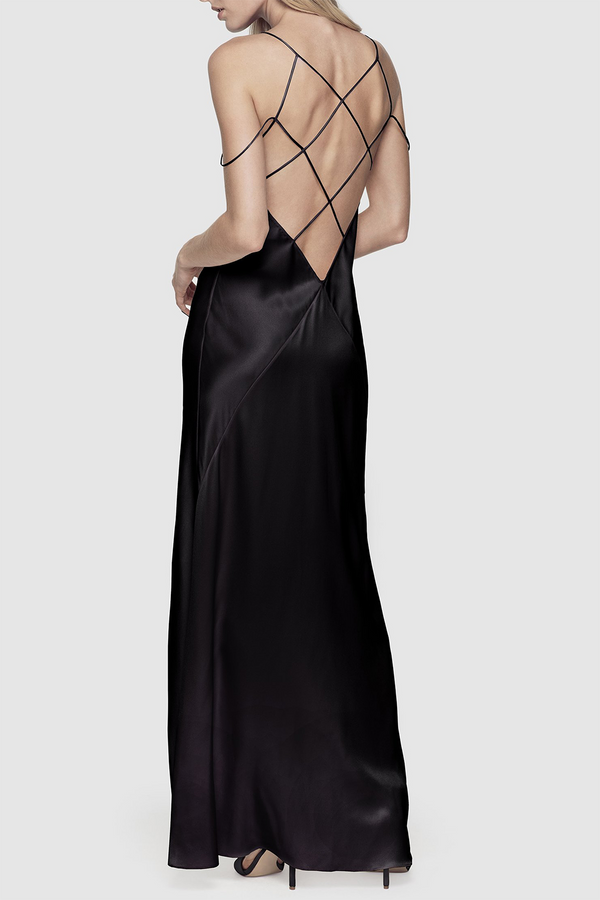 Cage Gown in Black
