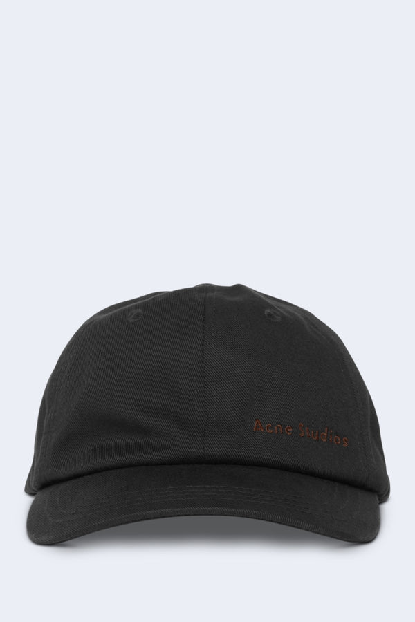 Carliy Cotton Twil Cap in Black