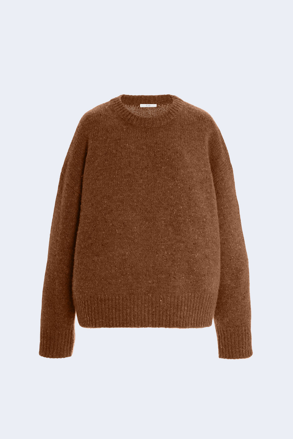 Crewneck Cashmere Sweater in Chestnut