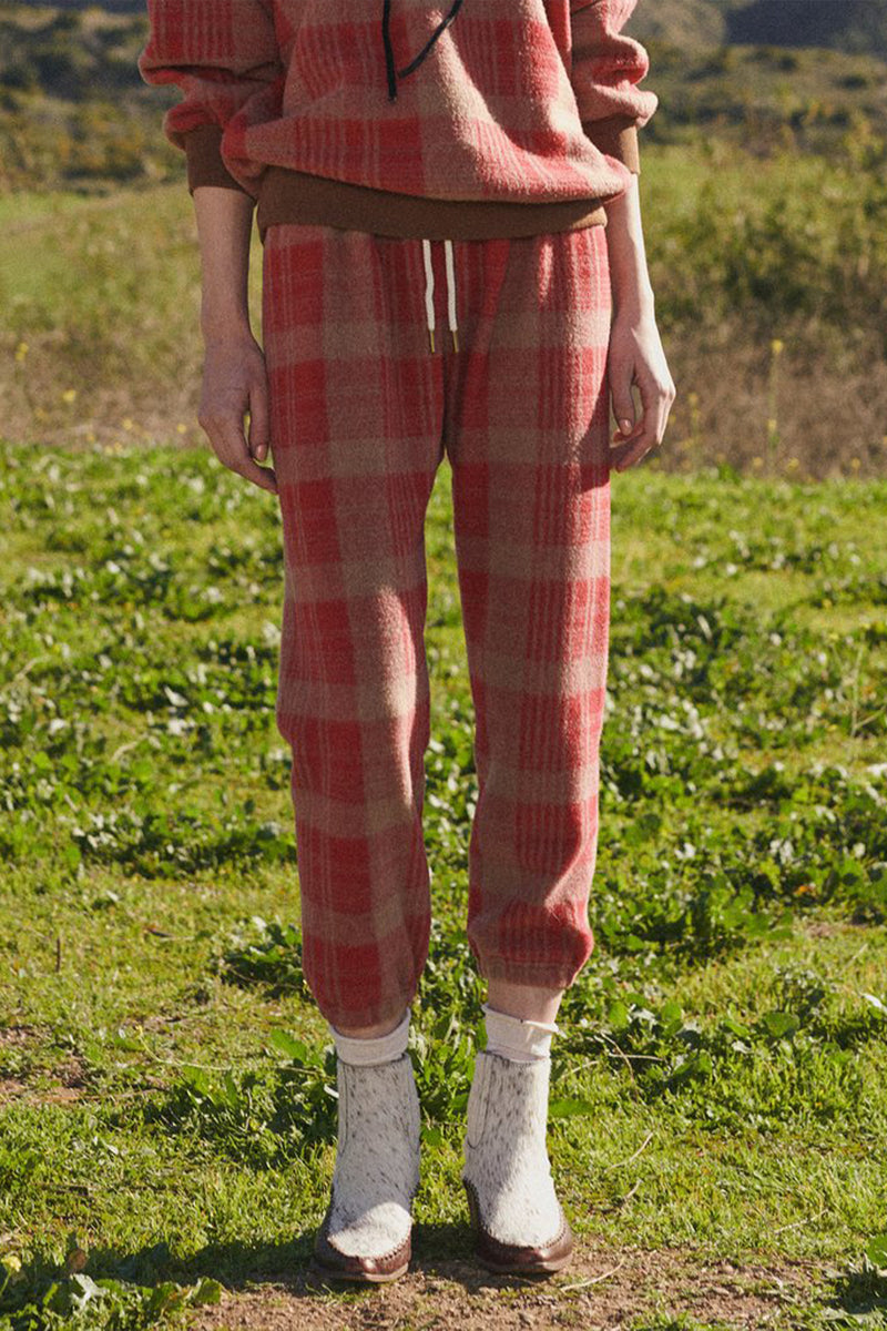 The Stadium Sweatpant in Lumber Plaid
