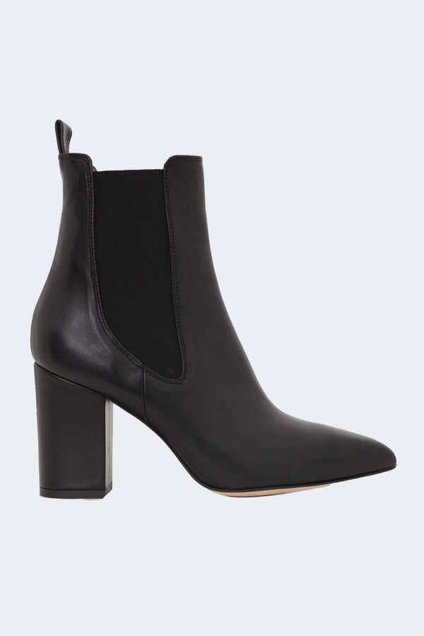 Napa Leather Ankle Boots in Nero