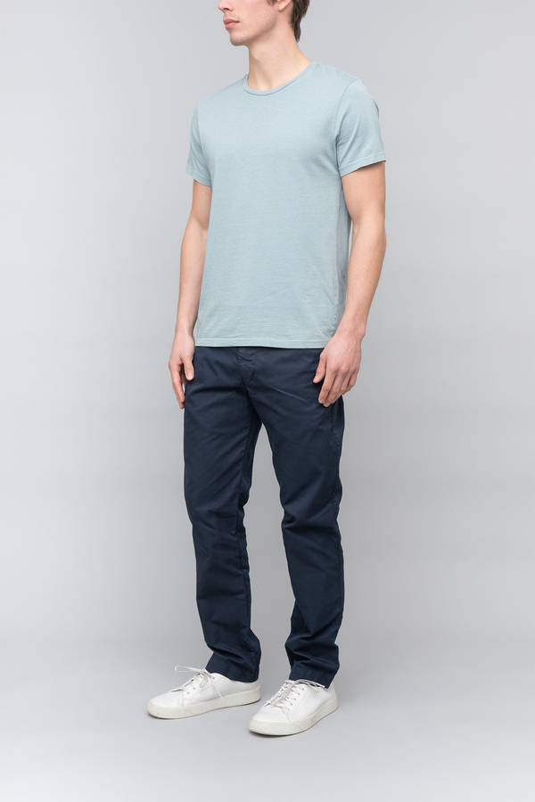 Short Sleeve Oat Heather Crew Tee in Dew