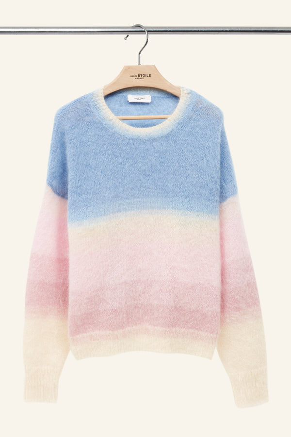 Cozy Drussel Multicolor Sweater in Blue
