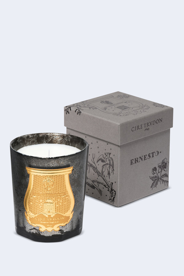Ernesto Candle Black Glass