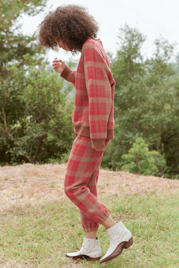 The Slouch Sweatshirt in Lumber Plaid