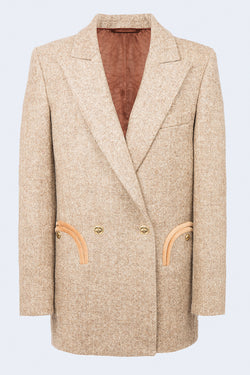 Solandge Everyday Double Breast Blazer in Mocha