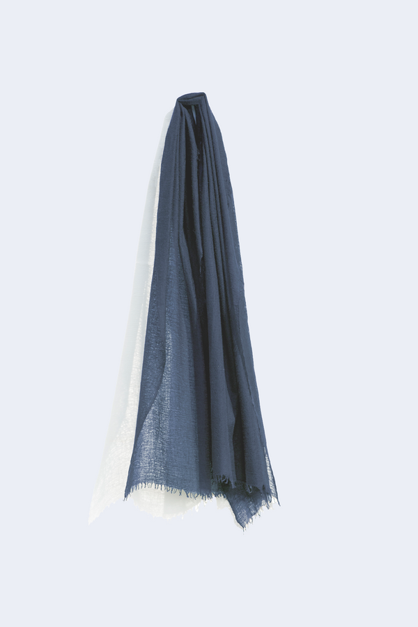 Cashmere Whisper Scarf in Navy