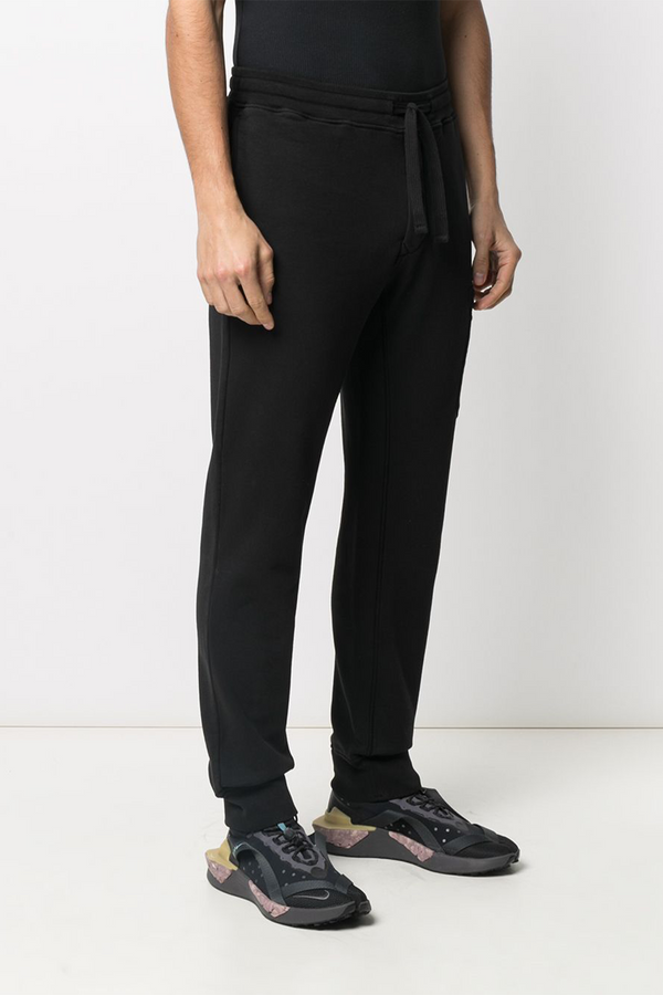 Fleece Pants with Tie Waist and Side Pocket in Black