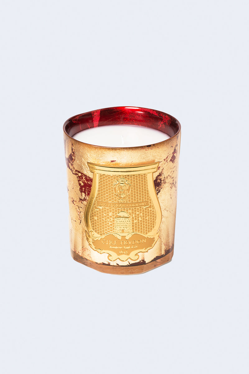 Classic Holiday Candle in Gloria Gold Ruby Red