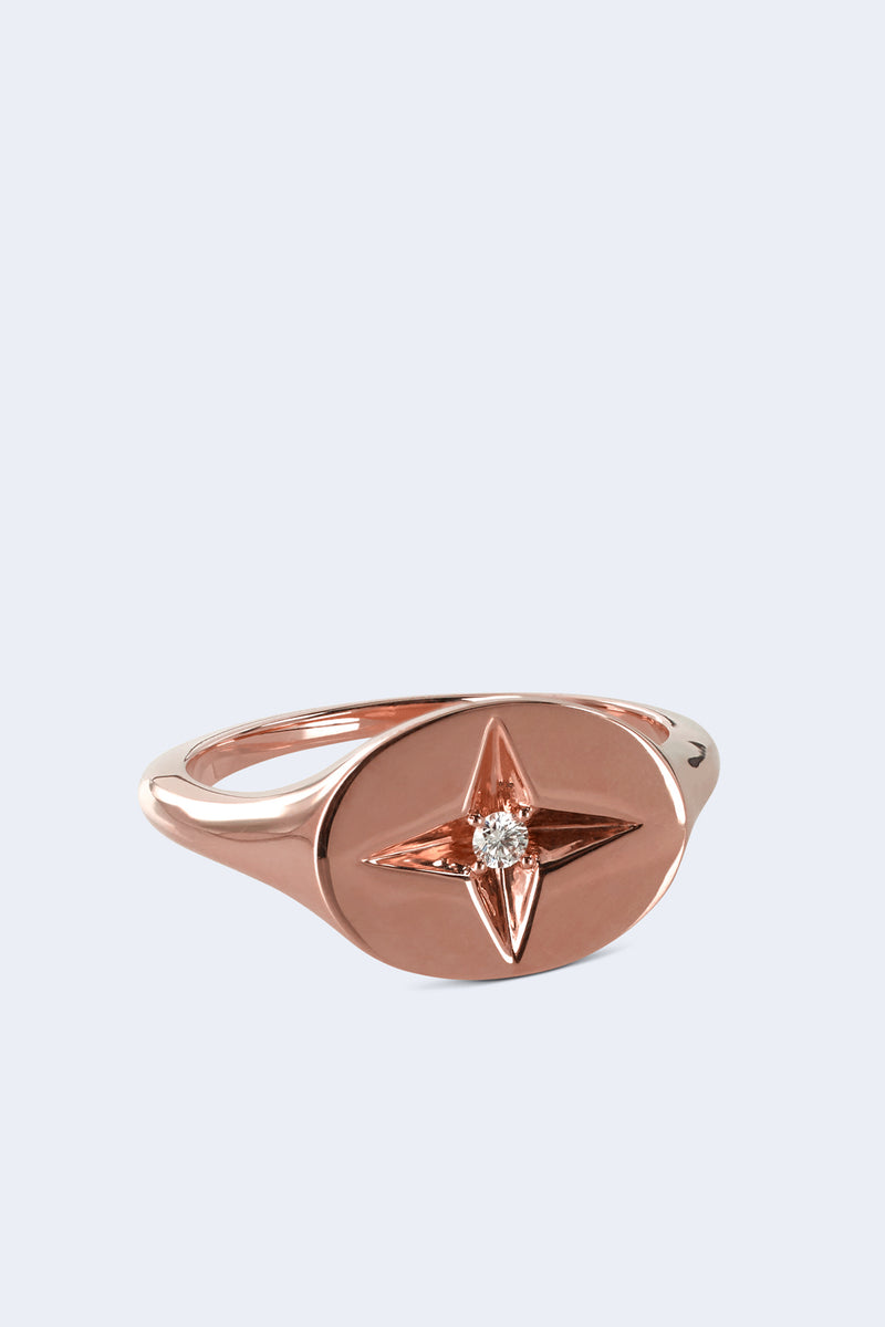 Guiding Star Pinky Ring in Rose Gold