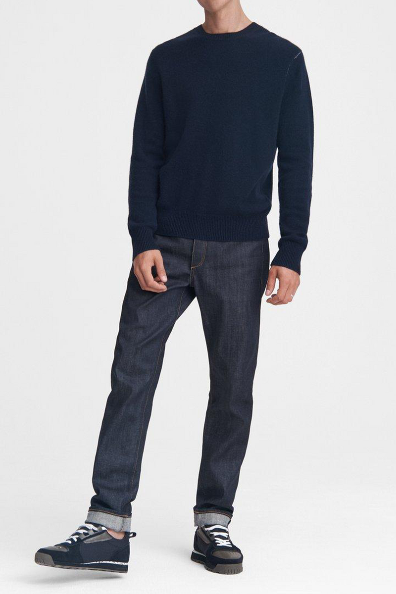 Men's Haldon Crewneck Cashmere Sweater in Navy