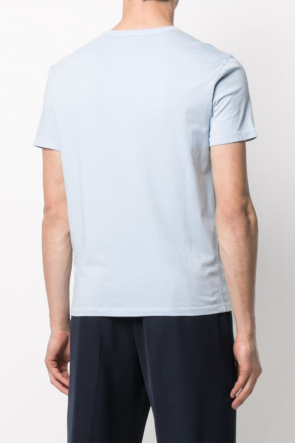 Short Sleeve Ice Touch Cotton Shirt in Pale Blue