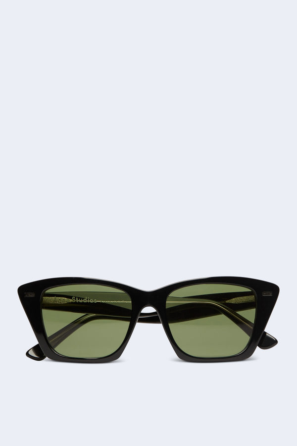 Ingridh Sunglasses in Black Silver Mirror