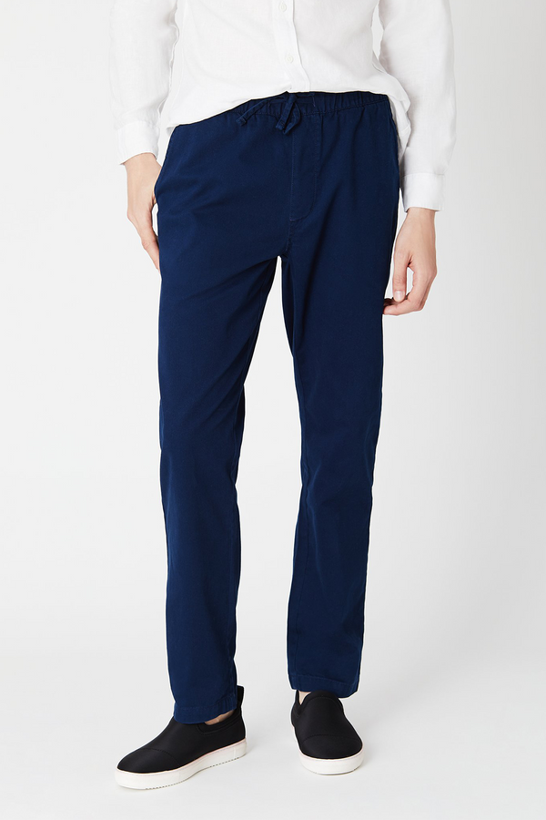 Jimmy Solid Pants in Deep Navy