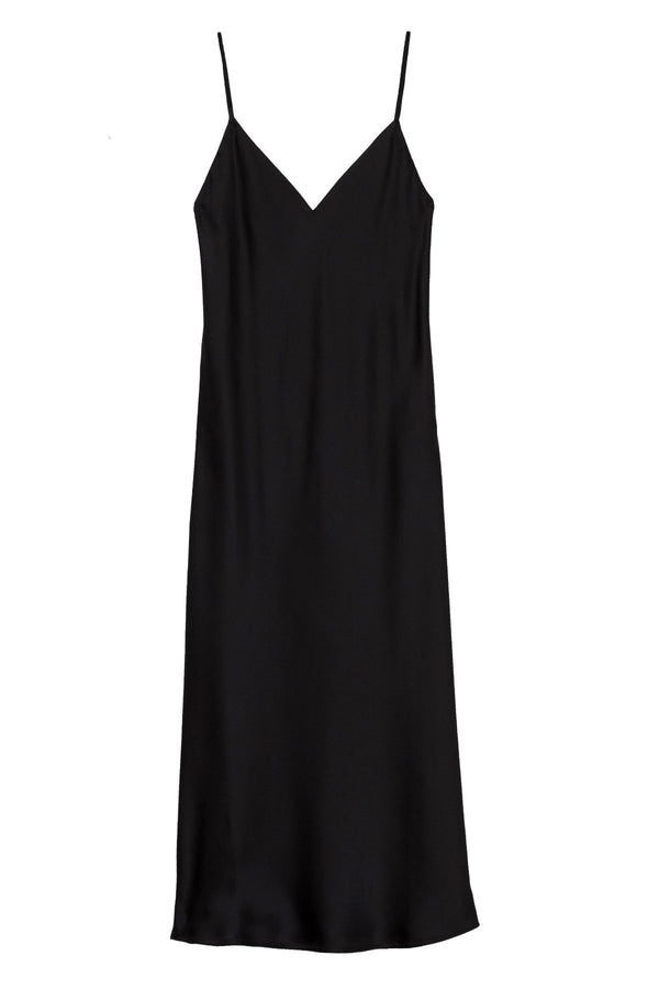 Jodie V-Neck Slip Dress in Black