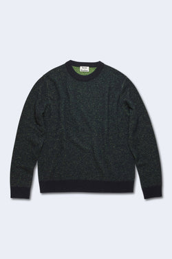 Men's Kassio Cashmere Sweater in Navy & Yellow